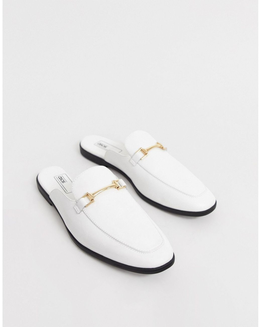 ASOS Backless Mule Loafer in White for