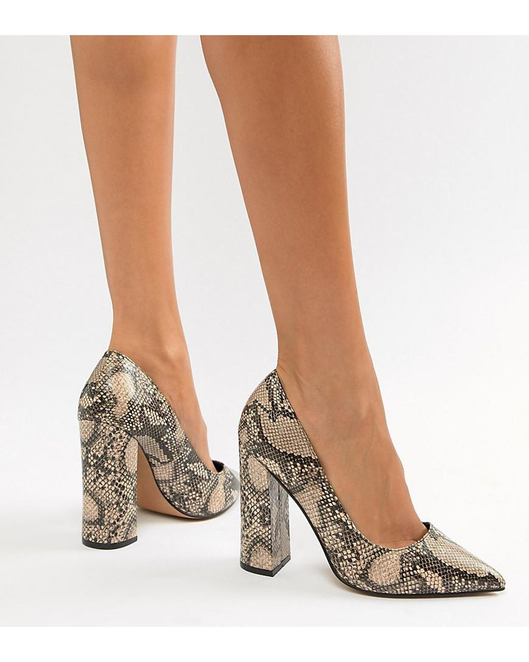 1a8cf153acb Women's Palmer Pointed High Heeled Court Shoes In Snake