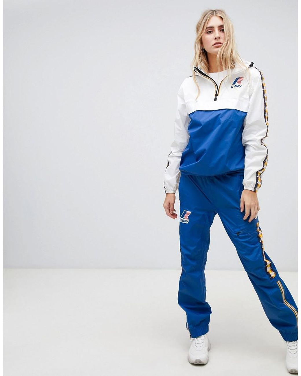 reasonably priced online here look good shoes sale K-way X Kappa Waterproof Trouser With Strap Detail