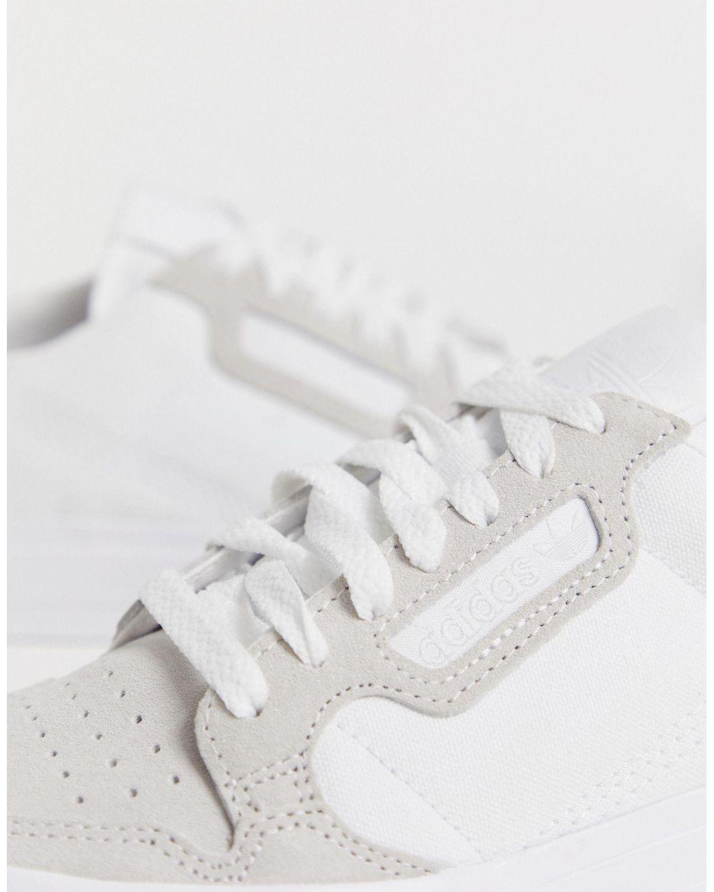 vistazo Sociología Hacer un nombre  adidas Originals Canvas Continental 80 Vulc Trainer in White - Save 28% -  Lyst