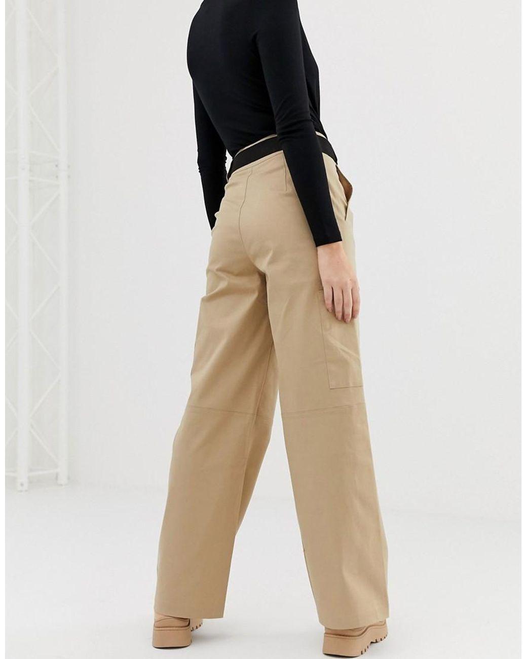 De Mujer Militares Pantalones En Neutro Color Beis Str sQxthCrd
