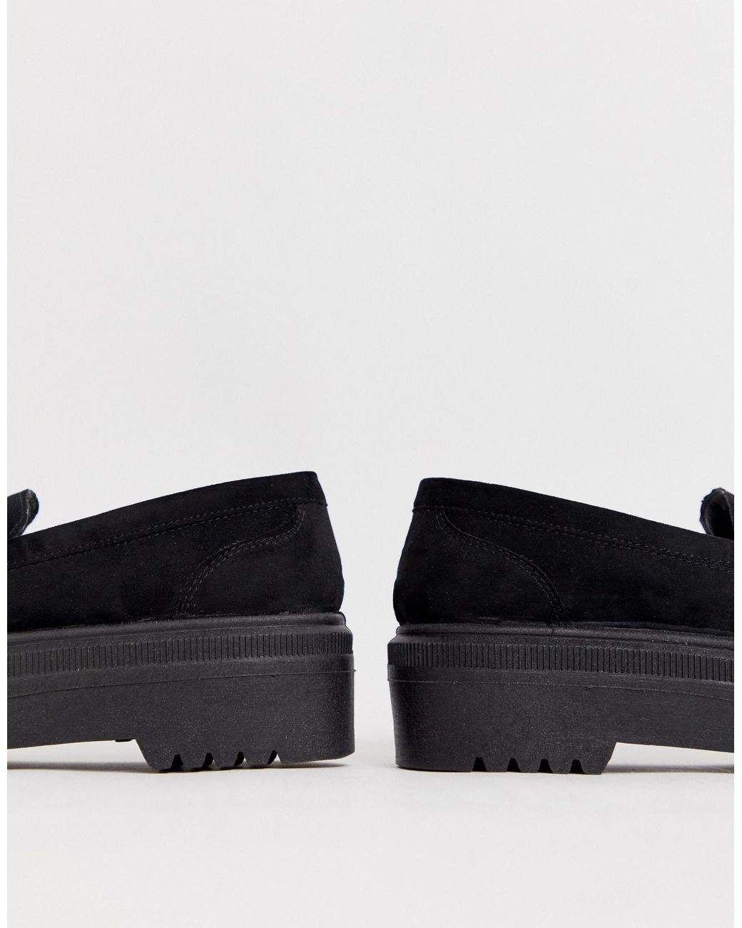 ASOS Wide Fit Vamped Chunky Loafers in