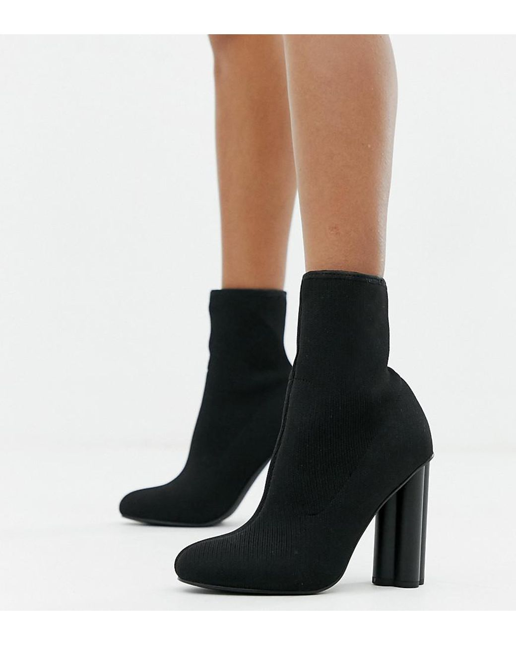Eliza Knitted Heeled Sock Boots