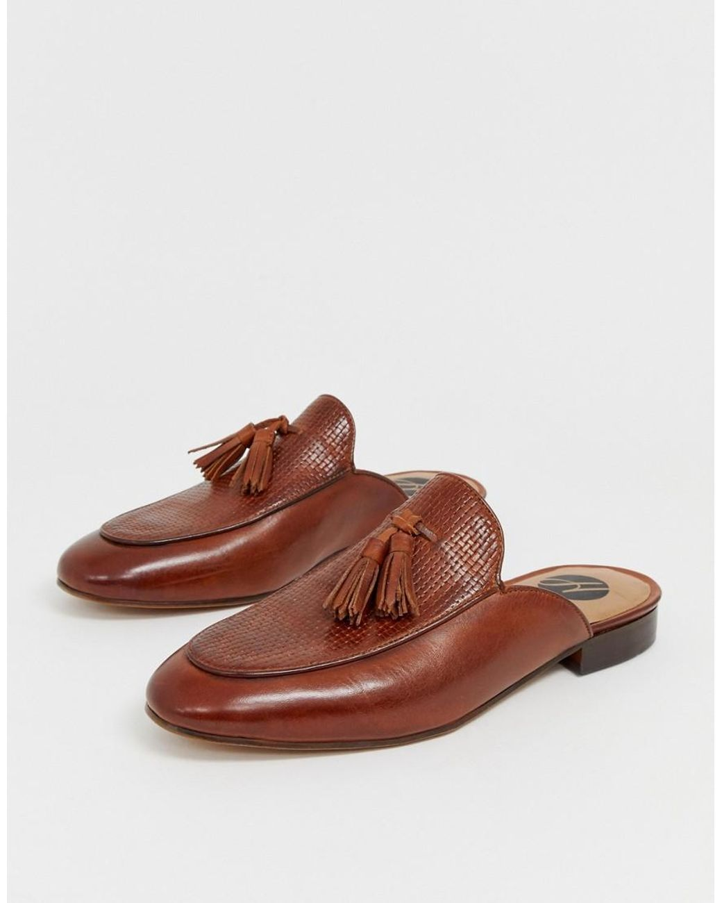 a2b3902e00888 H by Hudson Caradon Woven Tassel Slip On Loafers In Tan in Brown for Men -  Lyst