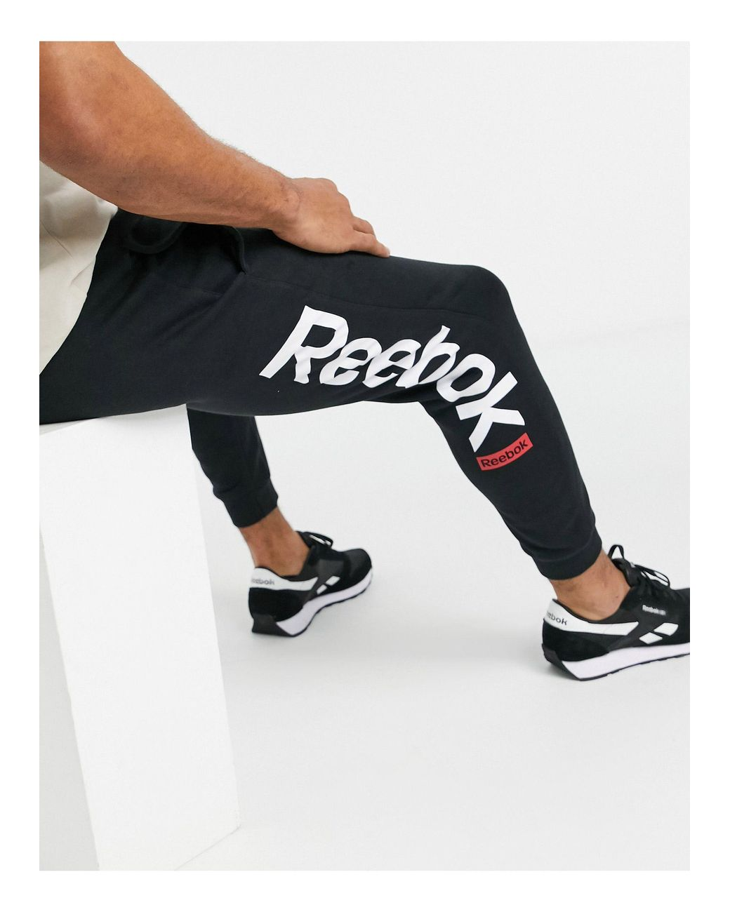 reebok black sweatpants
