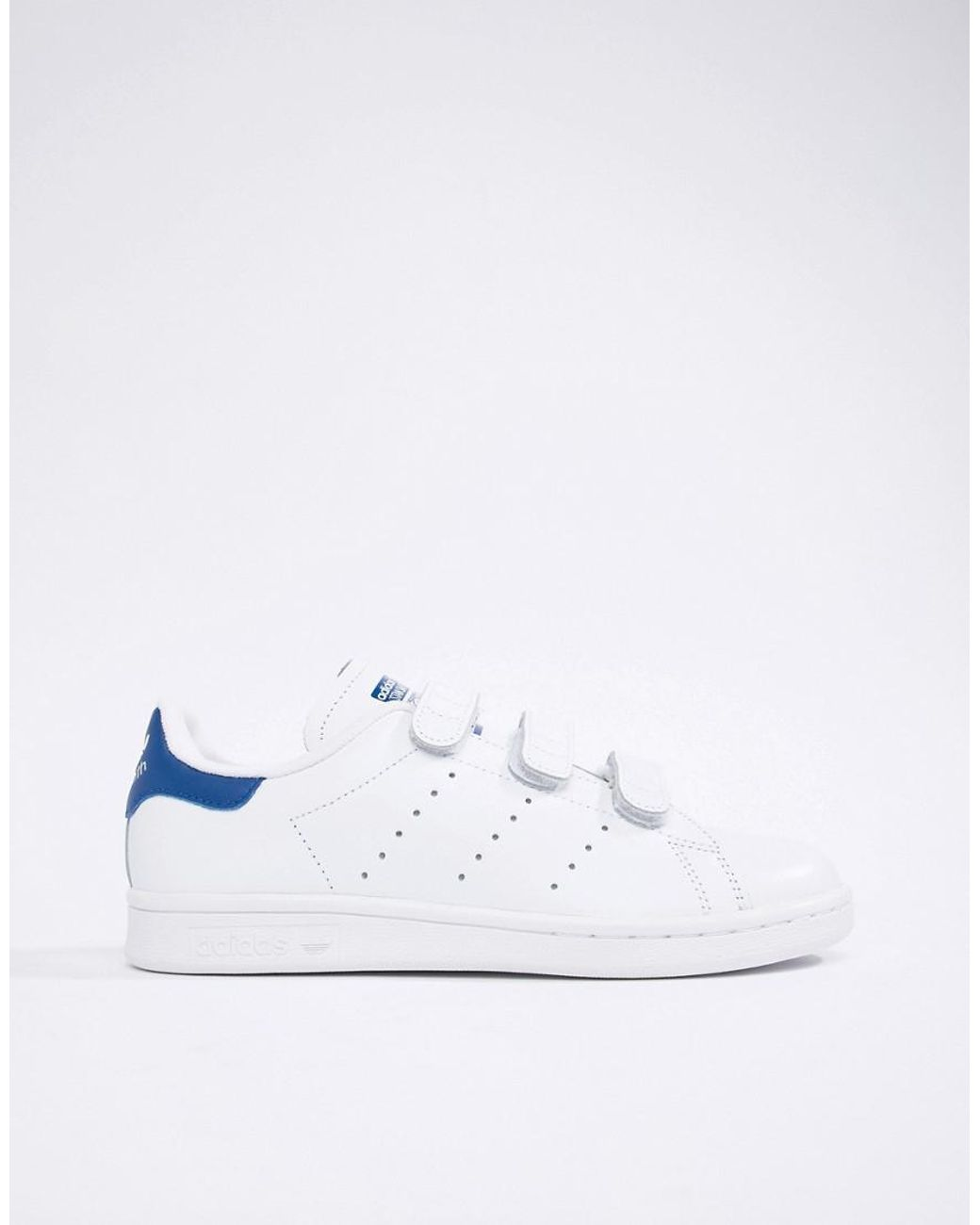online store 287cc 5eef7 adidas Originals Stan Smith Velcro Sneakers In White And ...