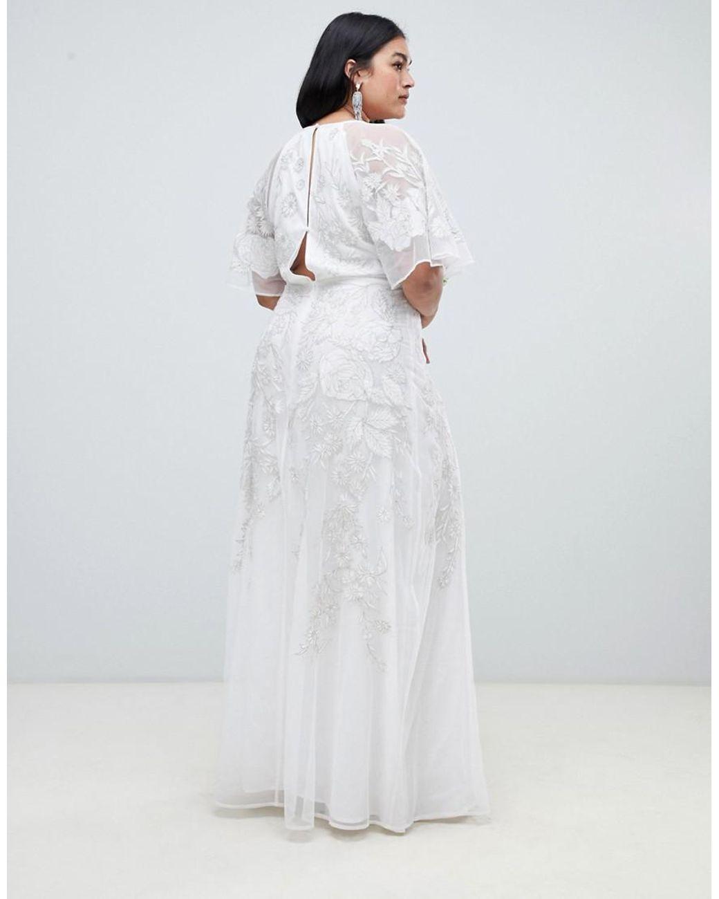 Asos Wedding Dress.Women S White Asos Edition Curve Floral Applique Wedding Dress