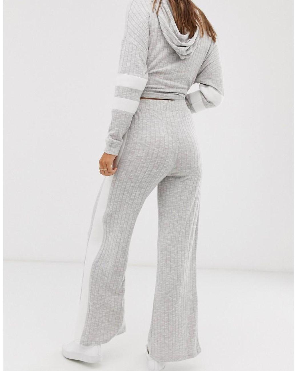 Pantalon large côtelé (ensemble