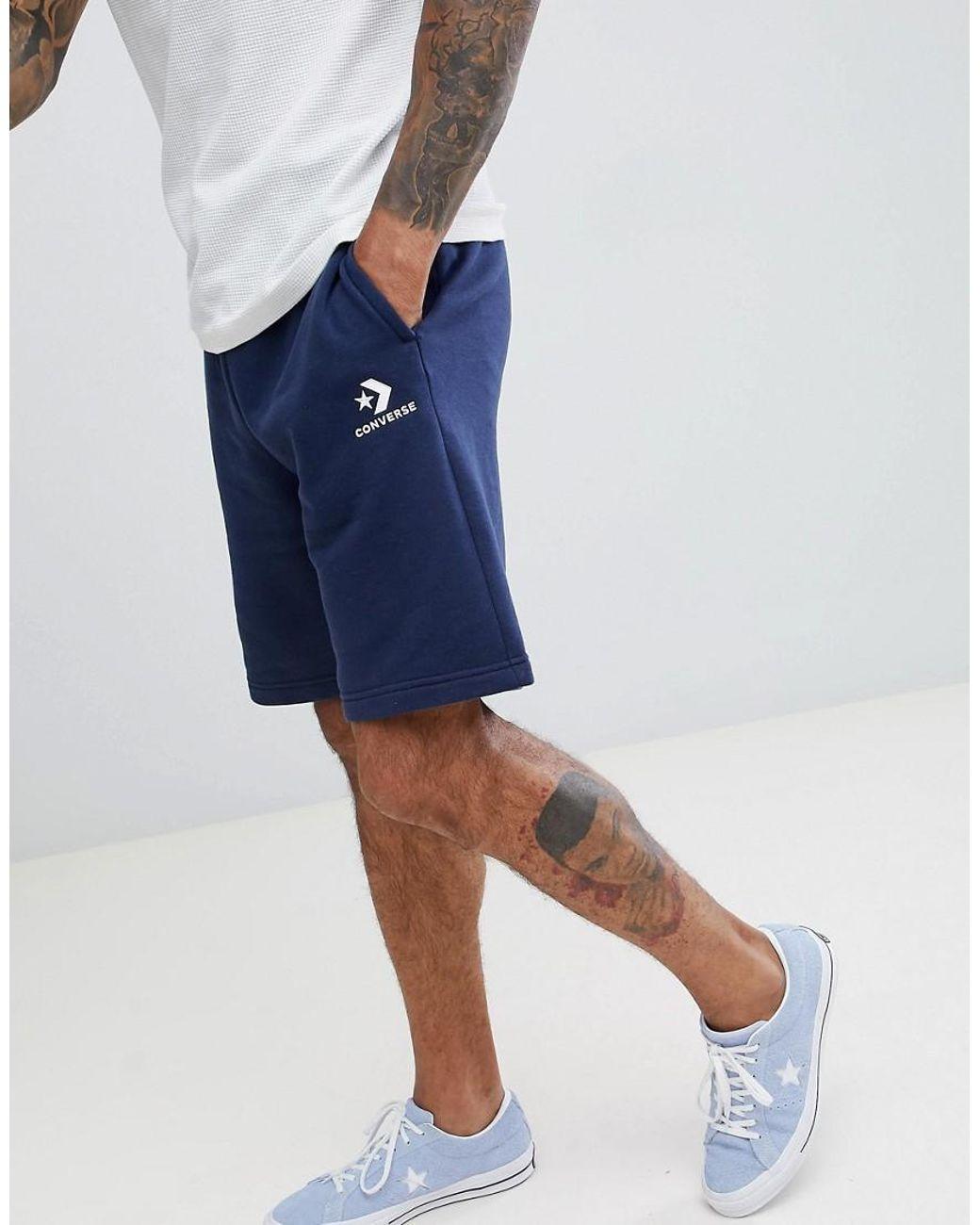 Short en jersey à logo Bleu marine 10008817 A02 homme