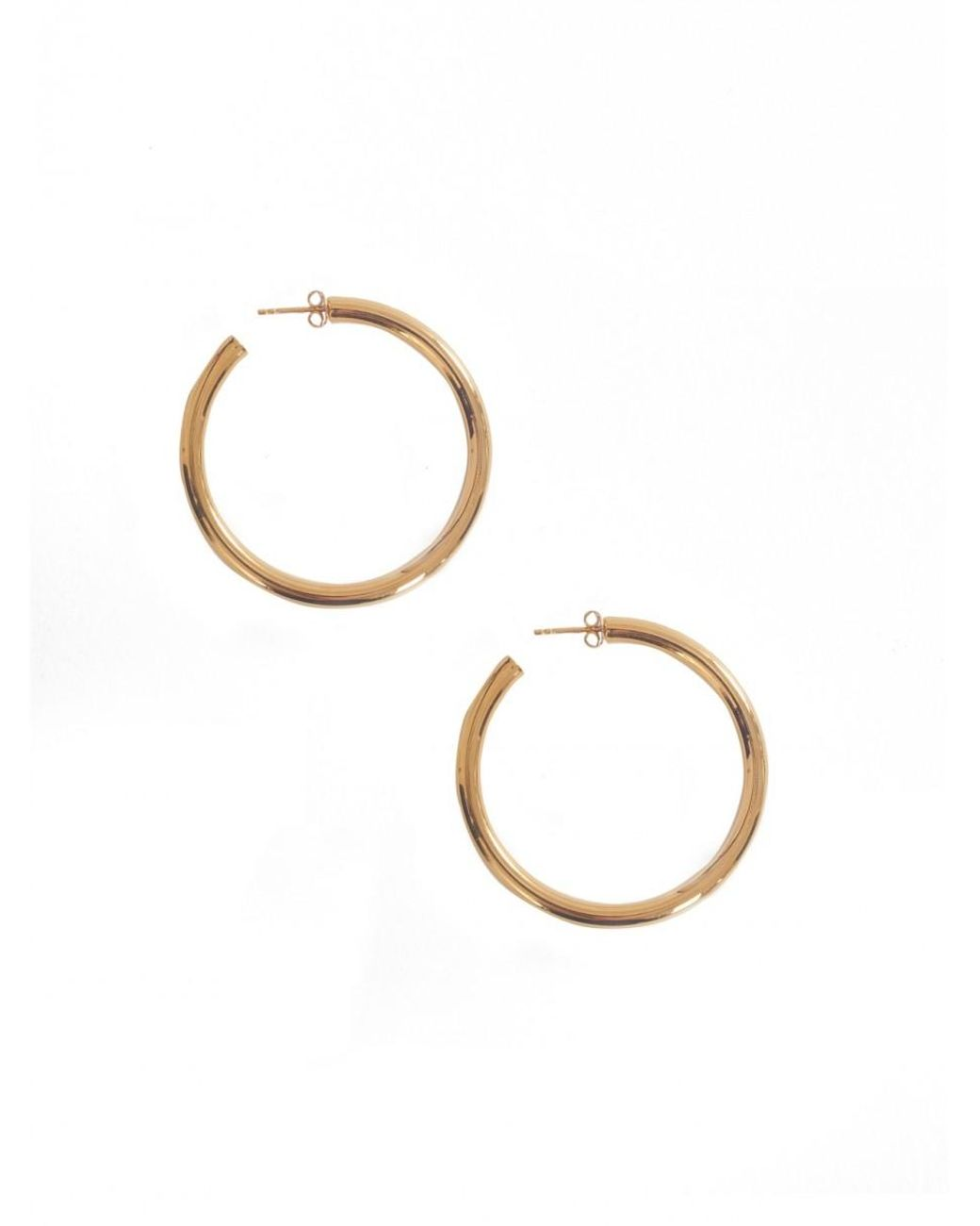 00176e201 Lyst - Otiumberg Chunky Gold Hoops in Metallic