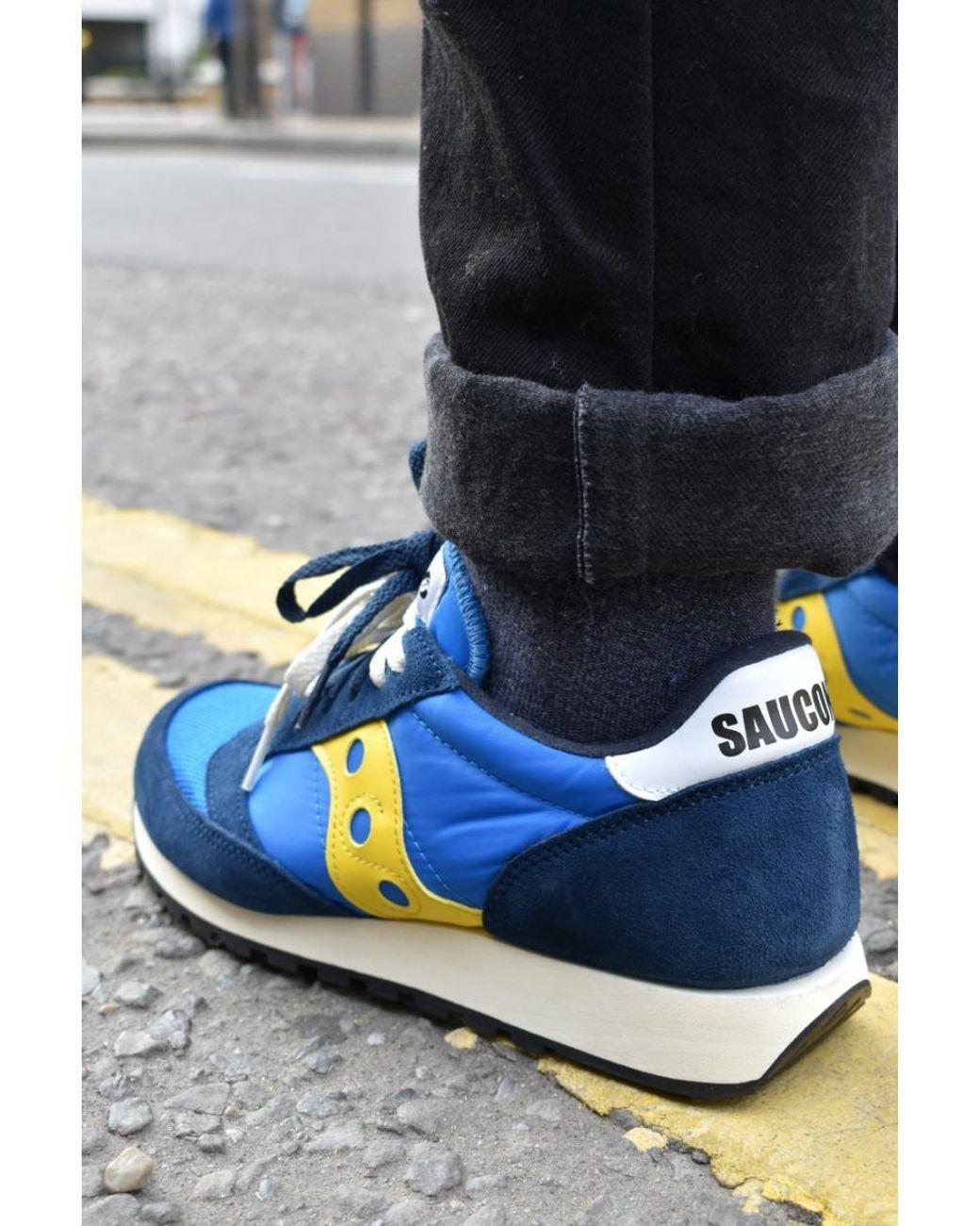 timeless design dfbf9 d27c7 Men's Jazz Original Blue & Yellow Sneakers