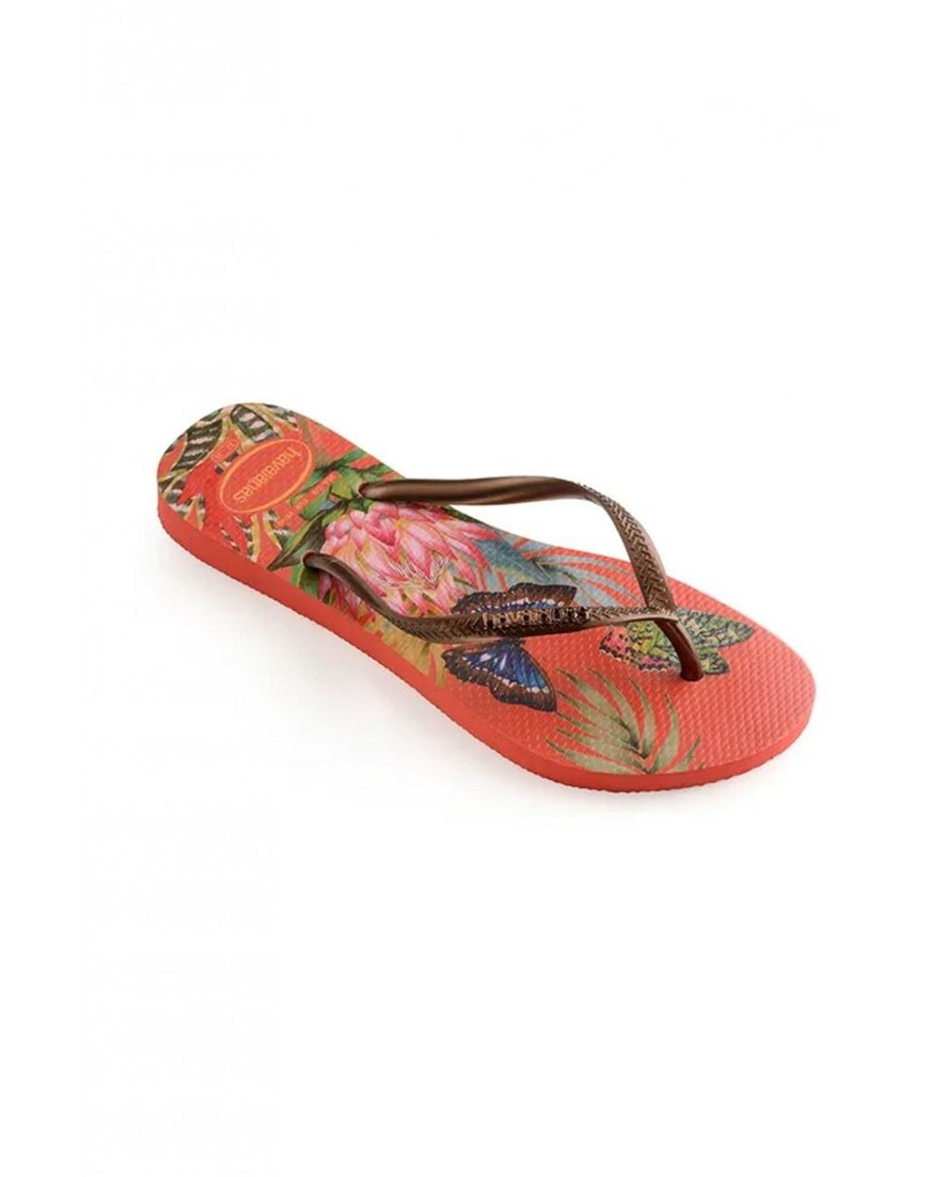 Ladies Jo /& Joe Tropical Ballerina Warm Pom Pom Slippers in Pink Blue /& Orange