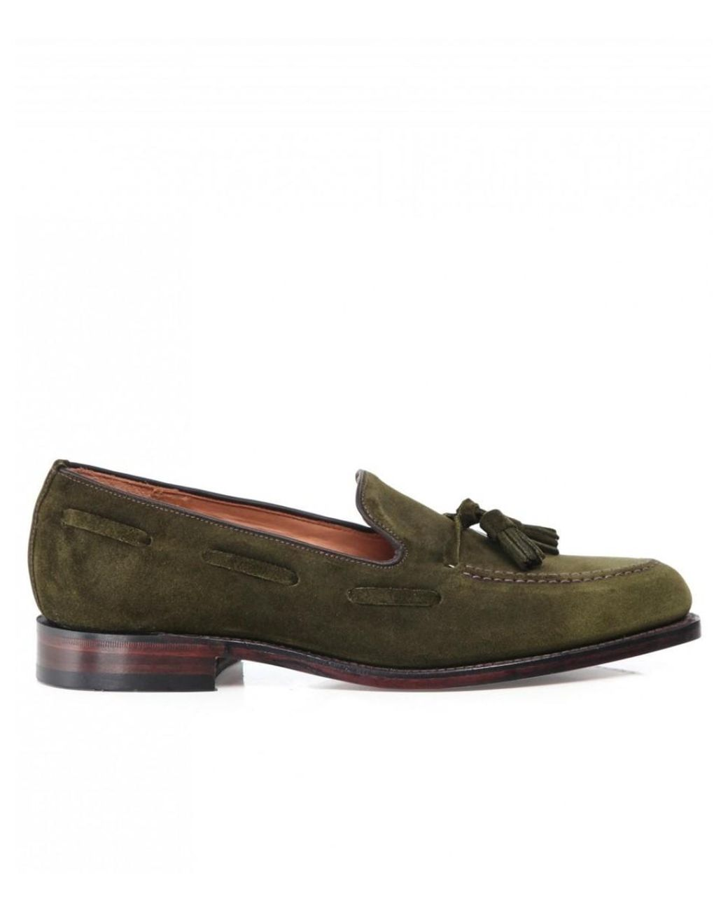 5a764b12 Lyst - Loake Suede Lincoln Tassel Loafers in Green for Men