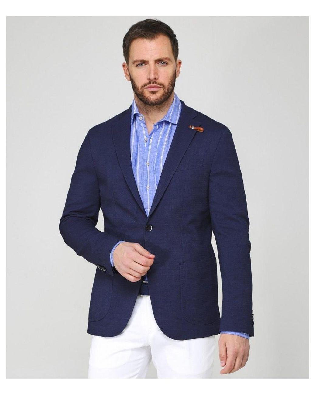 16ffd4937 Lyst - Baldessarini Textured Virgin Wool Blend Seba-1 Jacket in Blue for Men