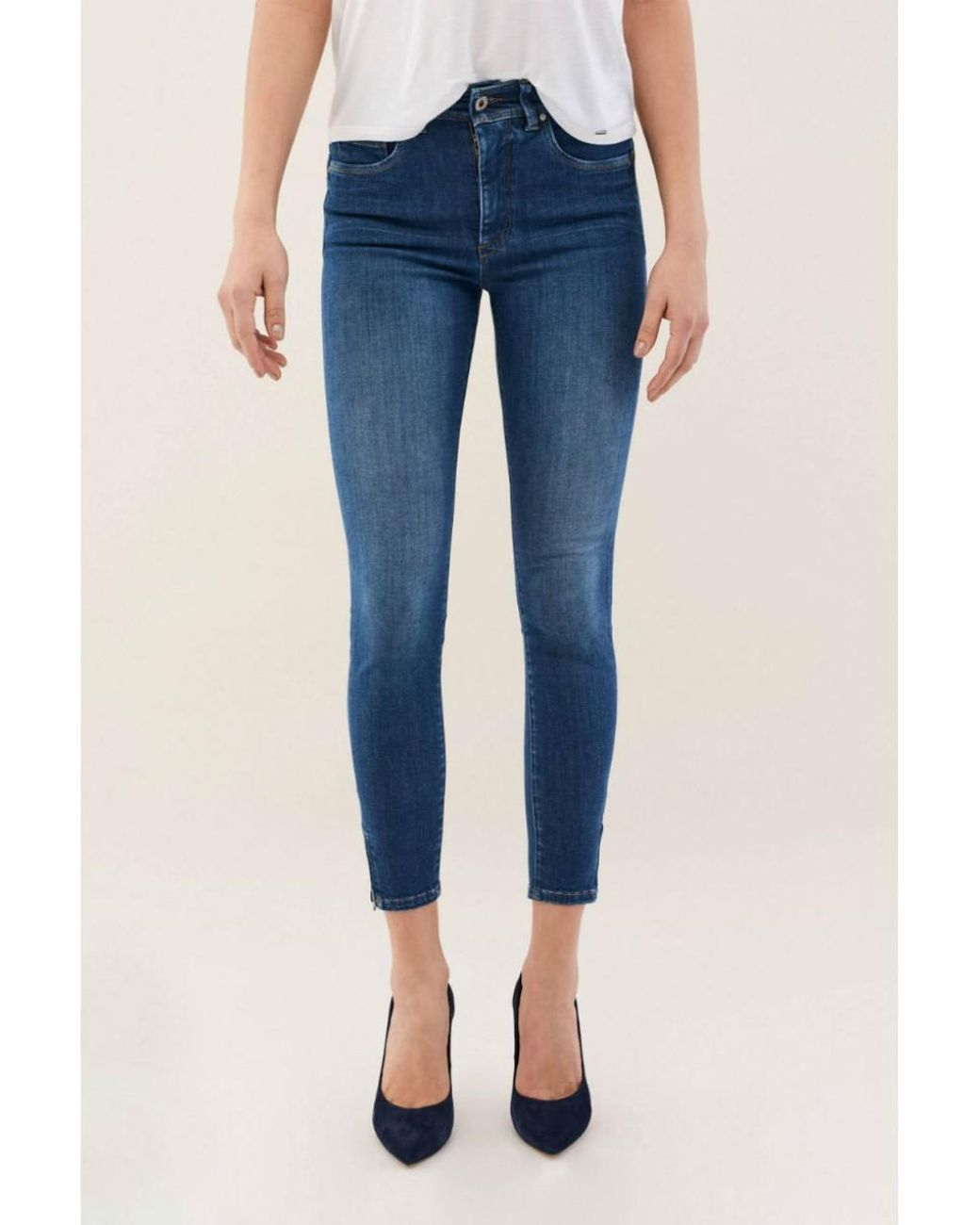 coupon codes stable quality fashion style Secret Glamour Skinny Jeans With Zip