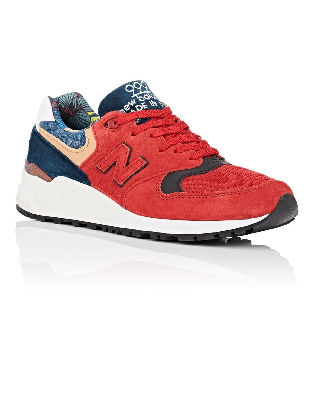 online retailer 72877 d6ef7 New Balance 999 Suede Sneakers in Red for Men - Lyst
