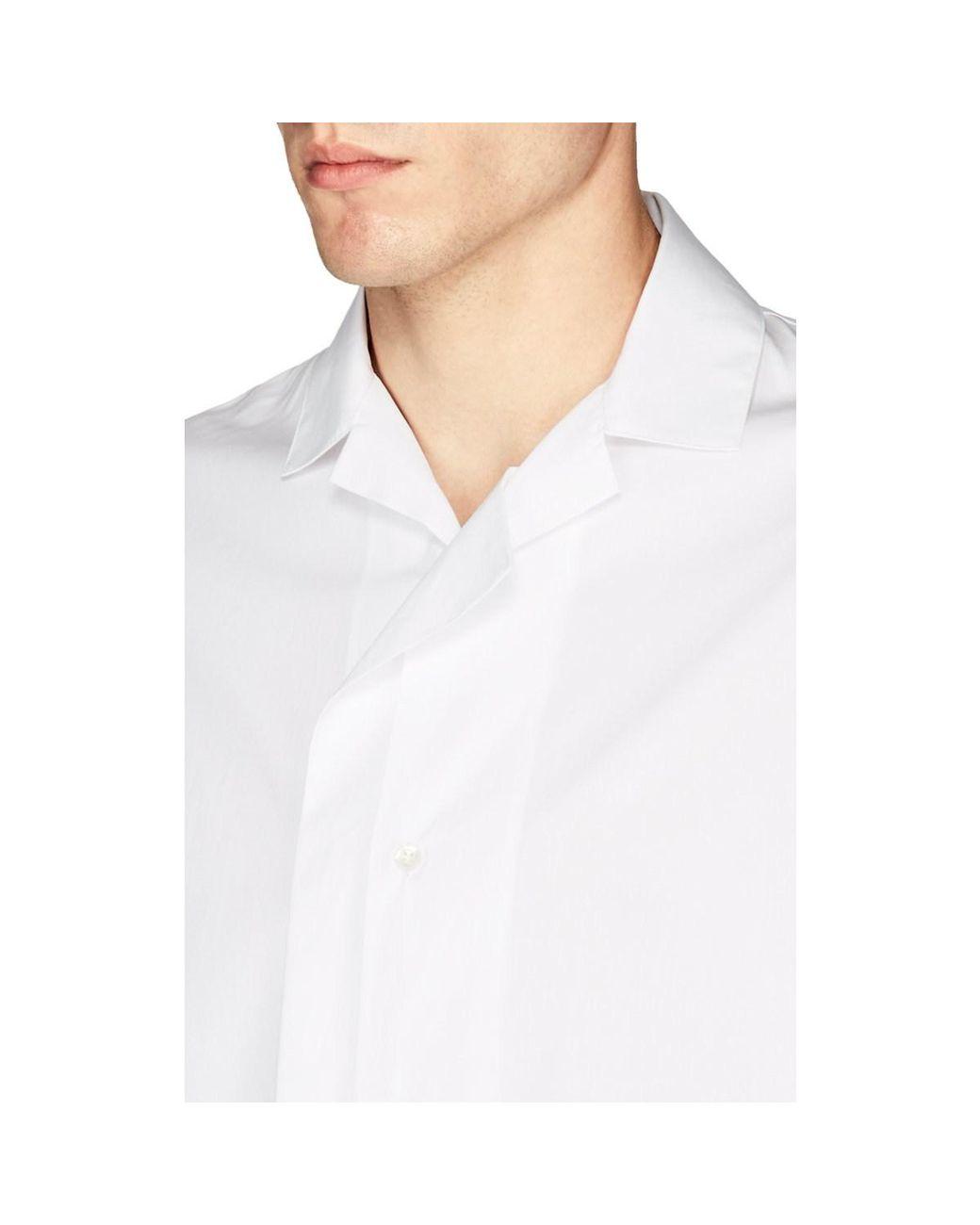 47dbe2c8 Men's White Bowling Shirt