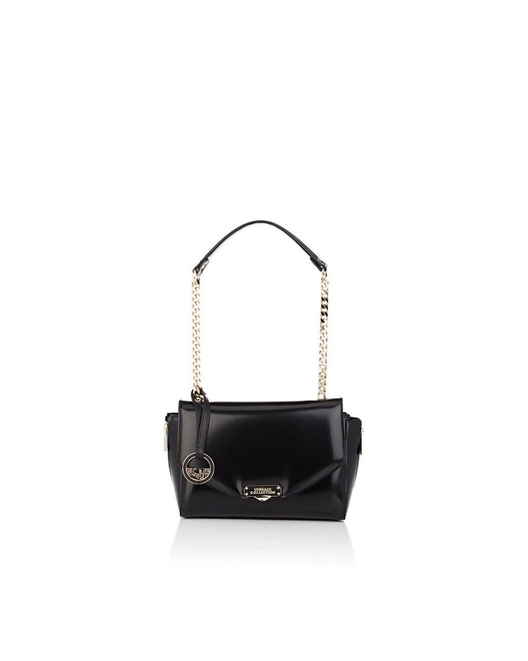 a607c0aa Versace Small Leather Shoulder Bag in Black - Lyst