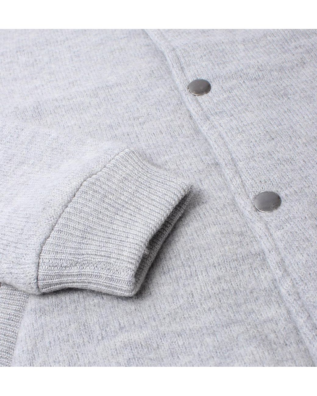Knitted Grey Jacket Lyst Bomber Farah In Gray Macauley Men For USMVzGLqp