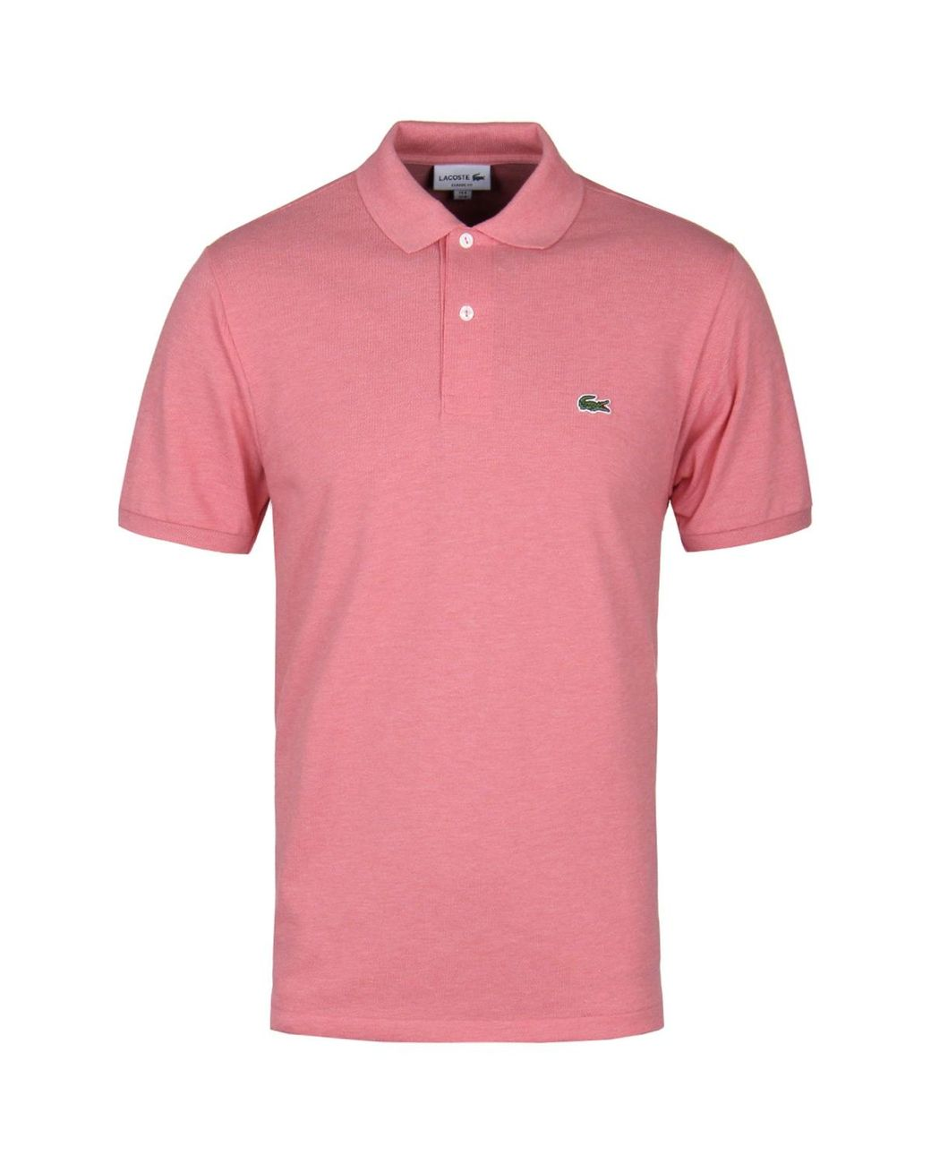 new product 32d2a 001a3 Lacoste Rosa Pink Marl Classic Fit Pique Polo Shirt in Pink ...