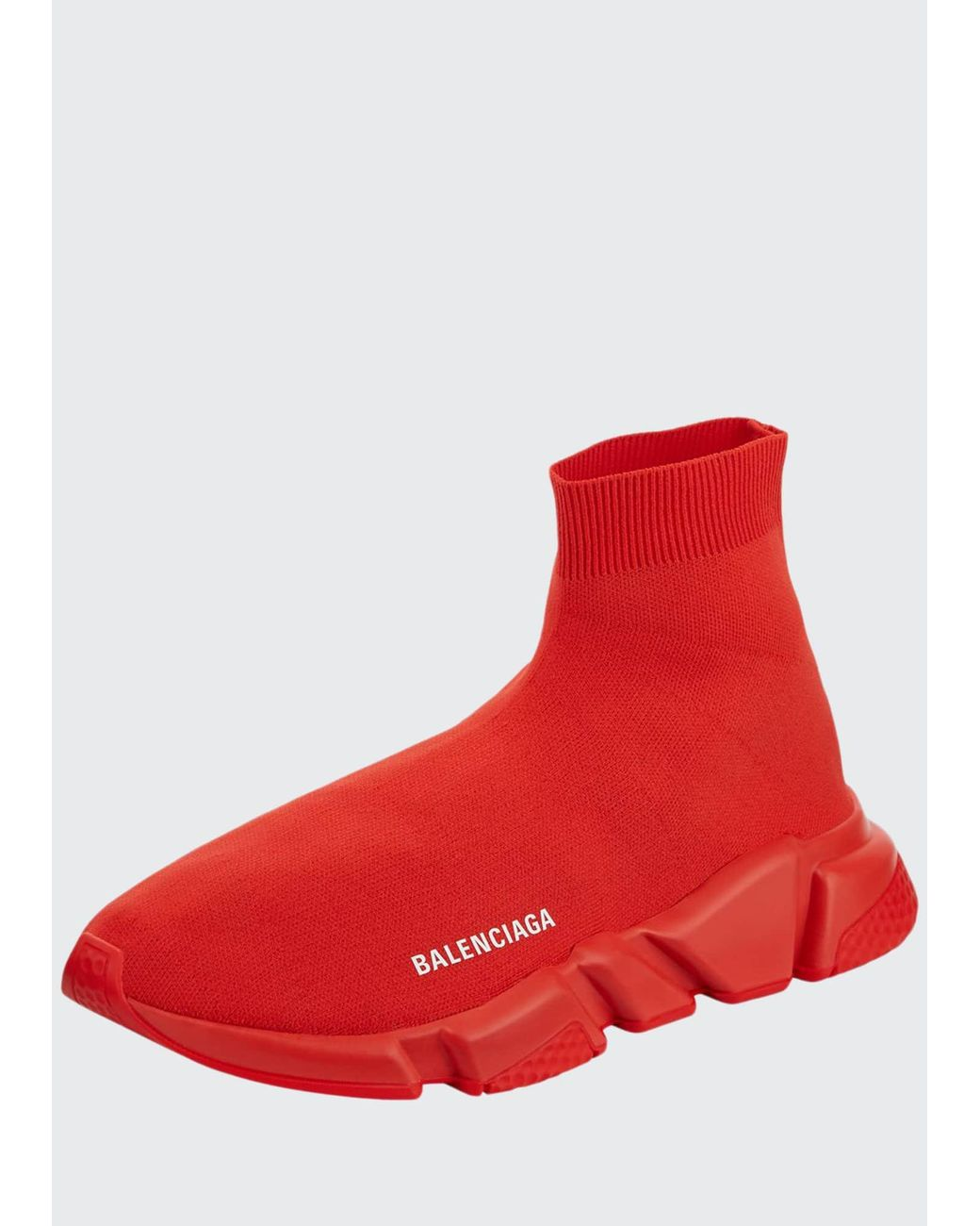 With Tonal Rubber Sole in Red for Men