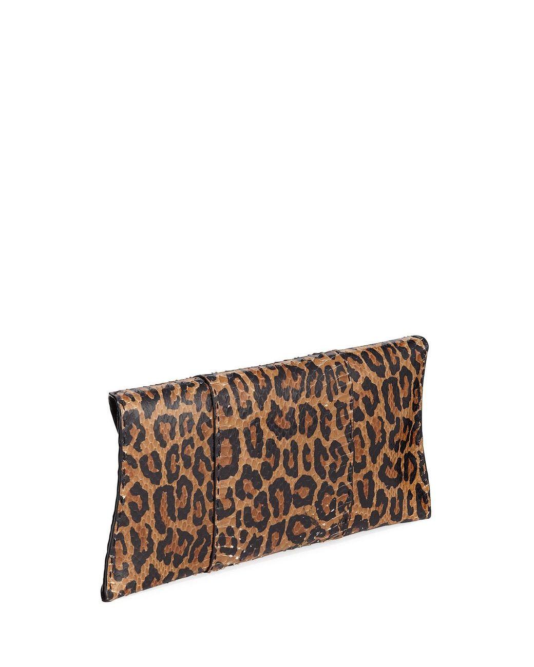 Leopard Crystal Flower Clutch Opera Wallet
