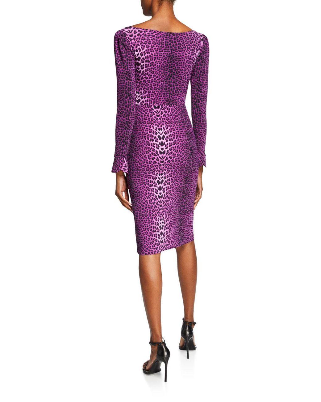 nouvelle apparence Braderie Vente au rabais 2019 Women's Purple Darsey Leopard-print Cocktail Dress