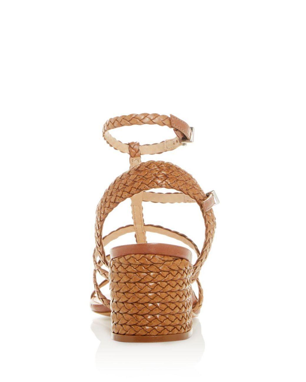 fcd7f0d02 Lyst - Schutz Women s Rosalia Strappy Block-heel Sandals in Natural