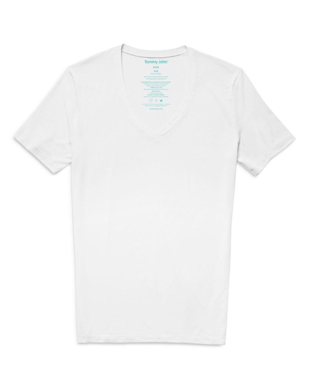 Tommy John Second Skin V-Neck Soft Men/'s T-Shirt  White Black Micro modal