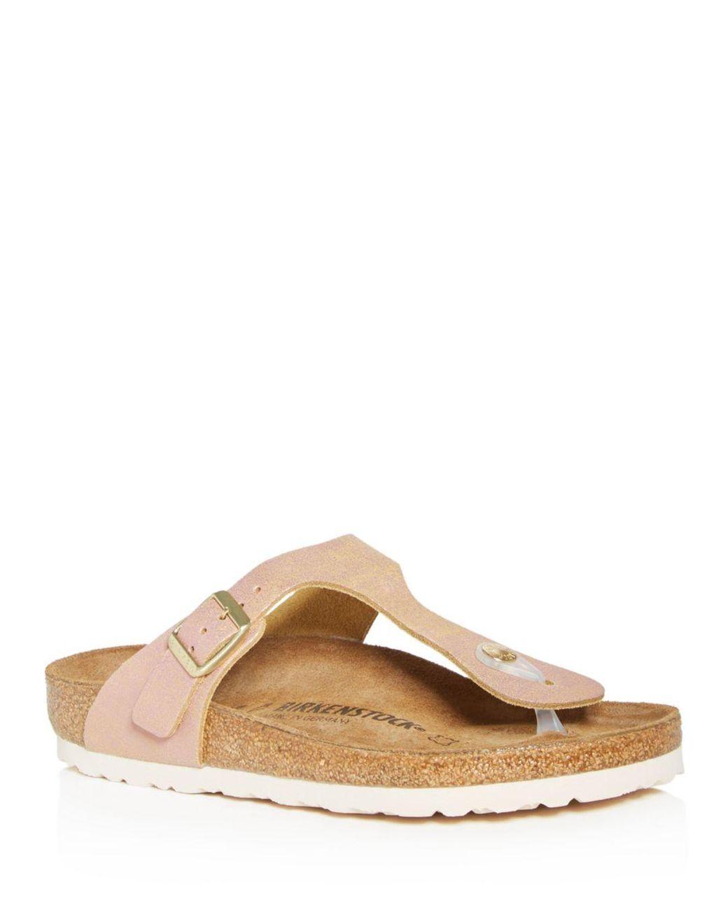 5328021b22ba Birkenstock Women s Gizeh Thong Sandals in Pink - Lyst