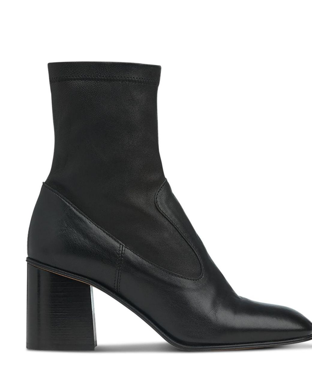 eed25bccf2c Black Women's Vittoria Square Toe Leather Boots