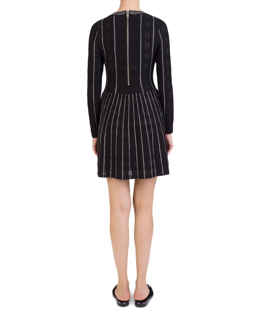 c706b374429 The Kooples Studded Sweater Dress in Black - Save 21% - Lyst