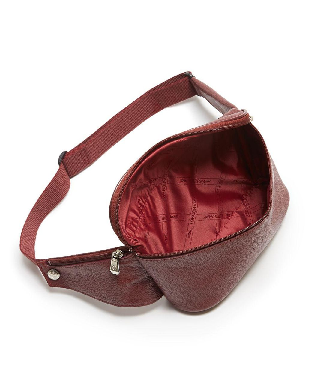 Longchamp Le Foulonné Leather Belt Bag in Black/Nickel Black ...
