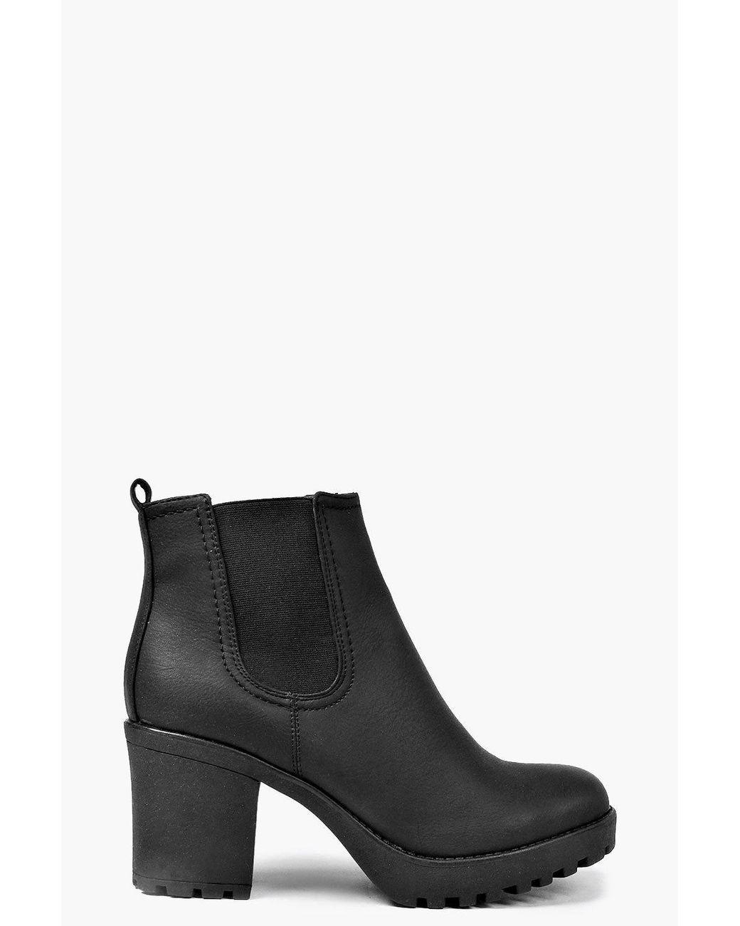 Tia Chunky Cleated Heel Chelsea Boot