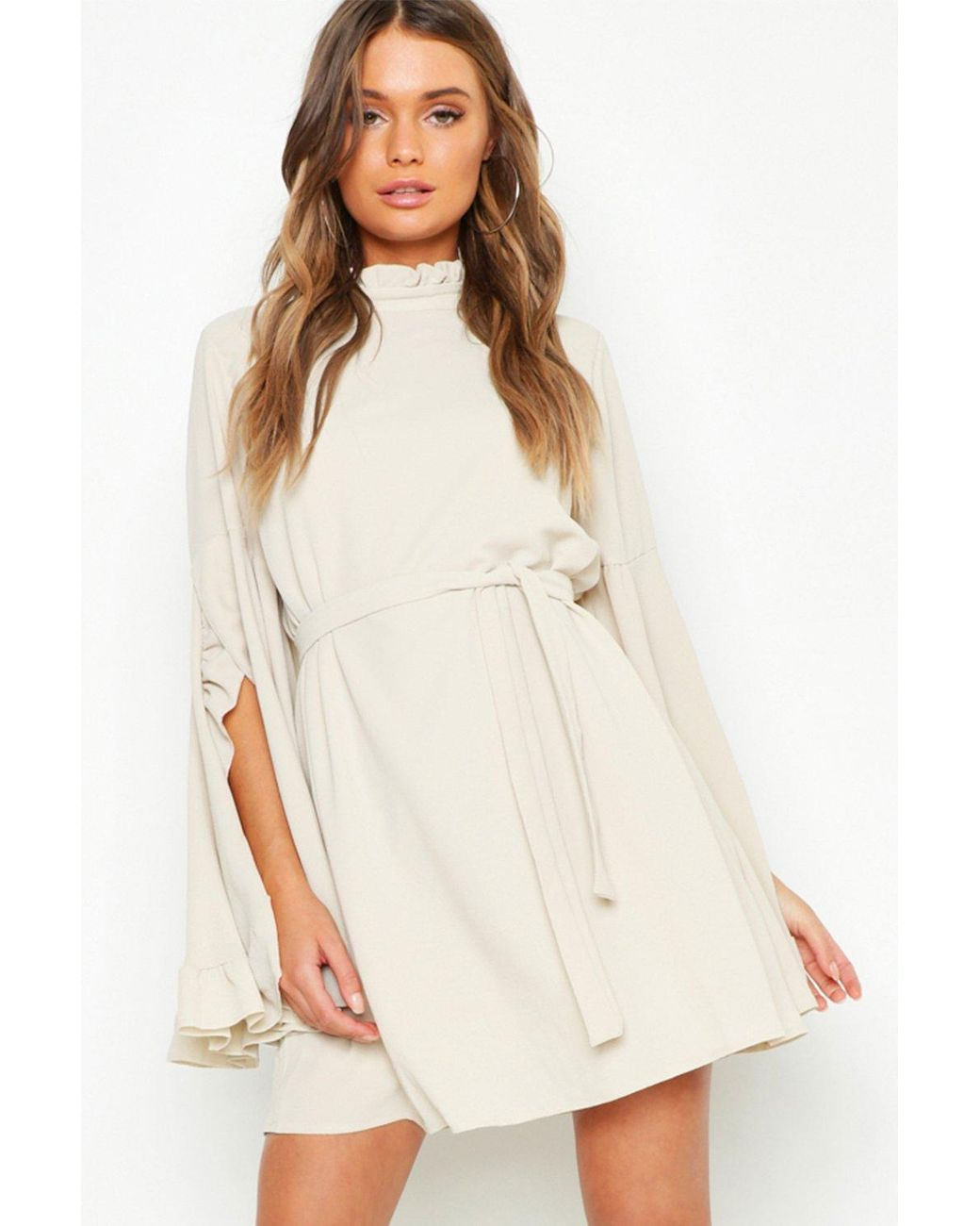 High Neck Wide Sleeve Dress