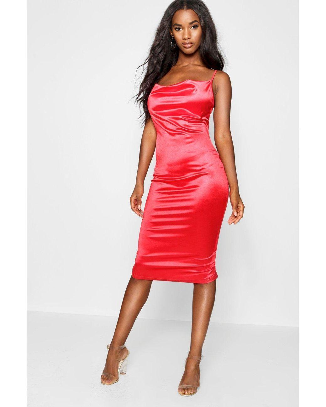 528643a3e378 Red Midi Dresses - ShopStyle