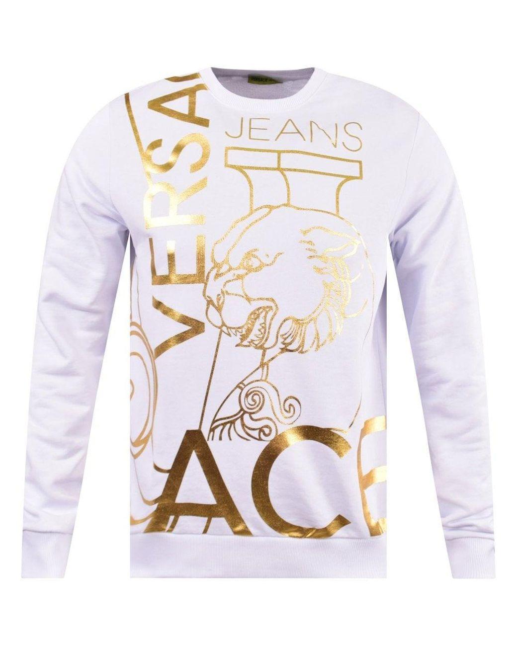 c367bb35 Versace Jeans Gold Foil T Shirt White - raveitsafe