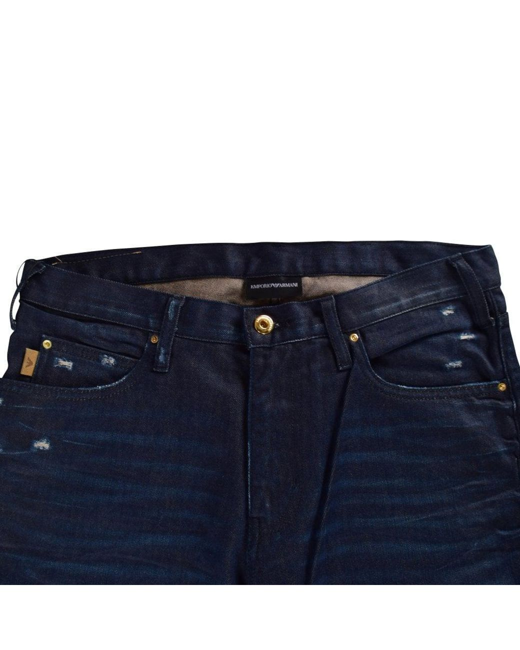 e49e3907 Emporio Armani Dark Blue J45 Regular Fit Jeans in Blue for Men - Lyst
