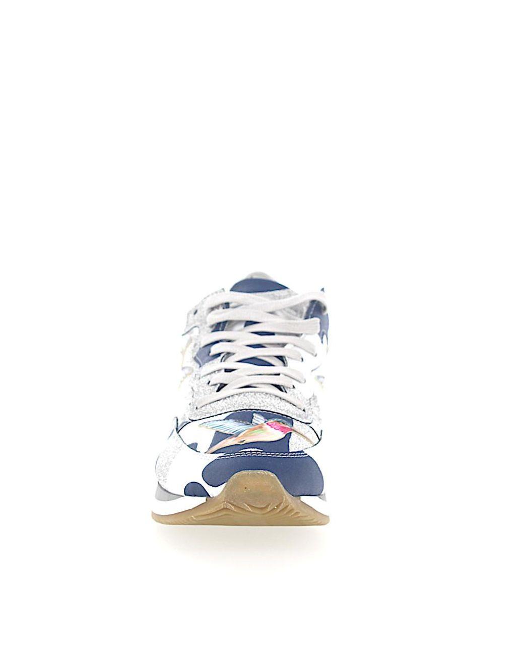 Model Sneaker Camouflage Philippe Blau Leder Leather Paradis vmNn80wOyP