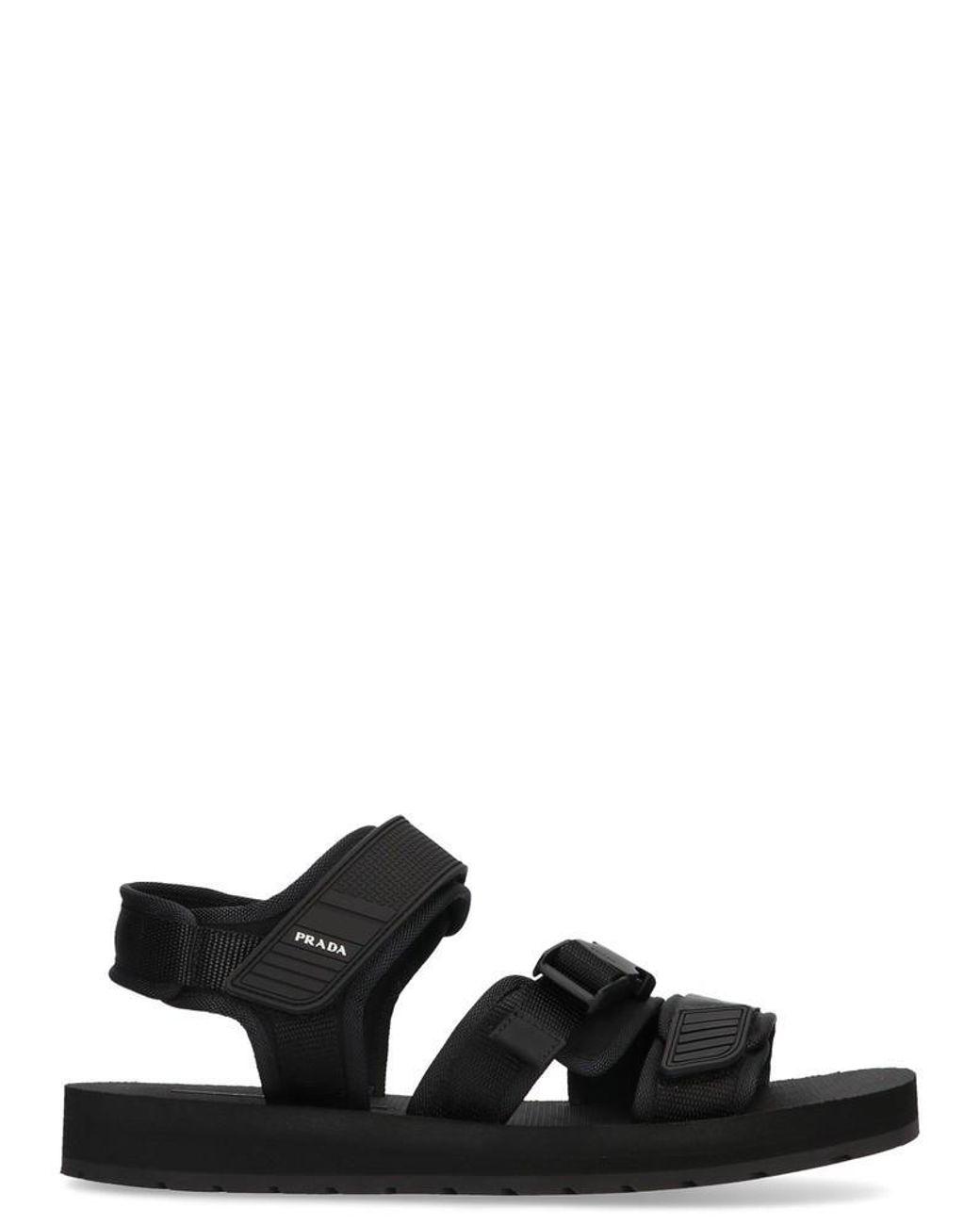 0072f78e967d Lyst - Prada Black Tech Sandals in Black for Men - Save 32%