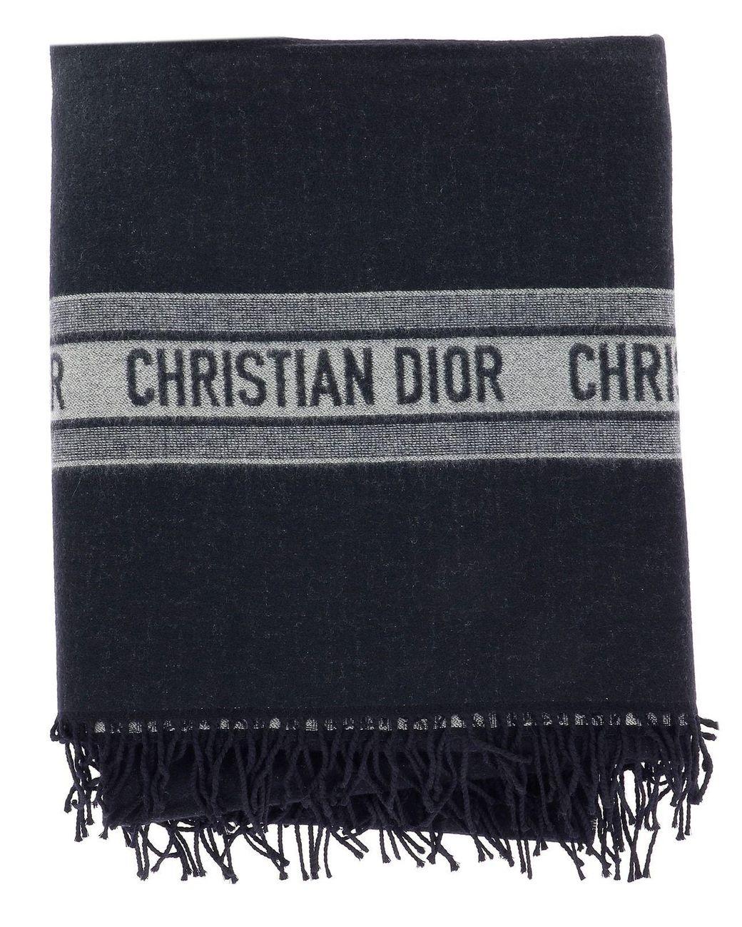 13f2eb1926538 Dior Cd Logo Scarf in Blue - Lyst