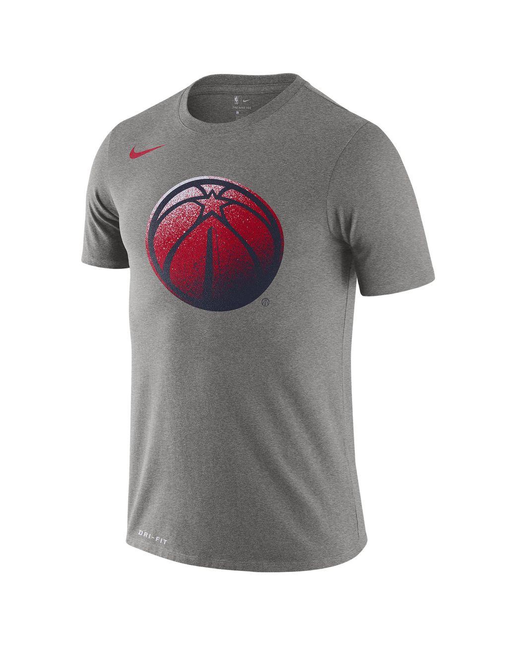 pretty nice 32351 f720b Nike Washington Wizards Nba Mzo Logo T-shirt in Gray for Men ...