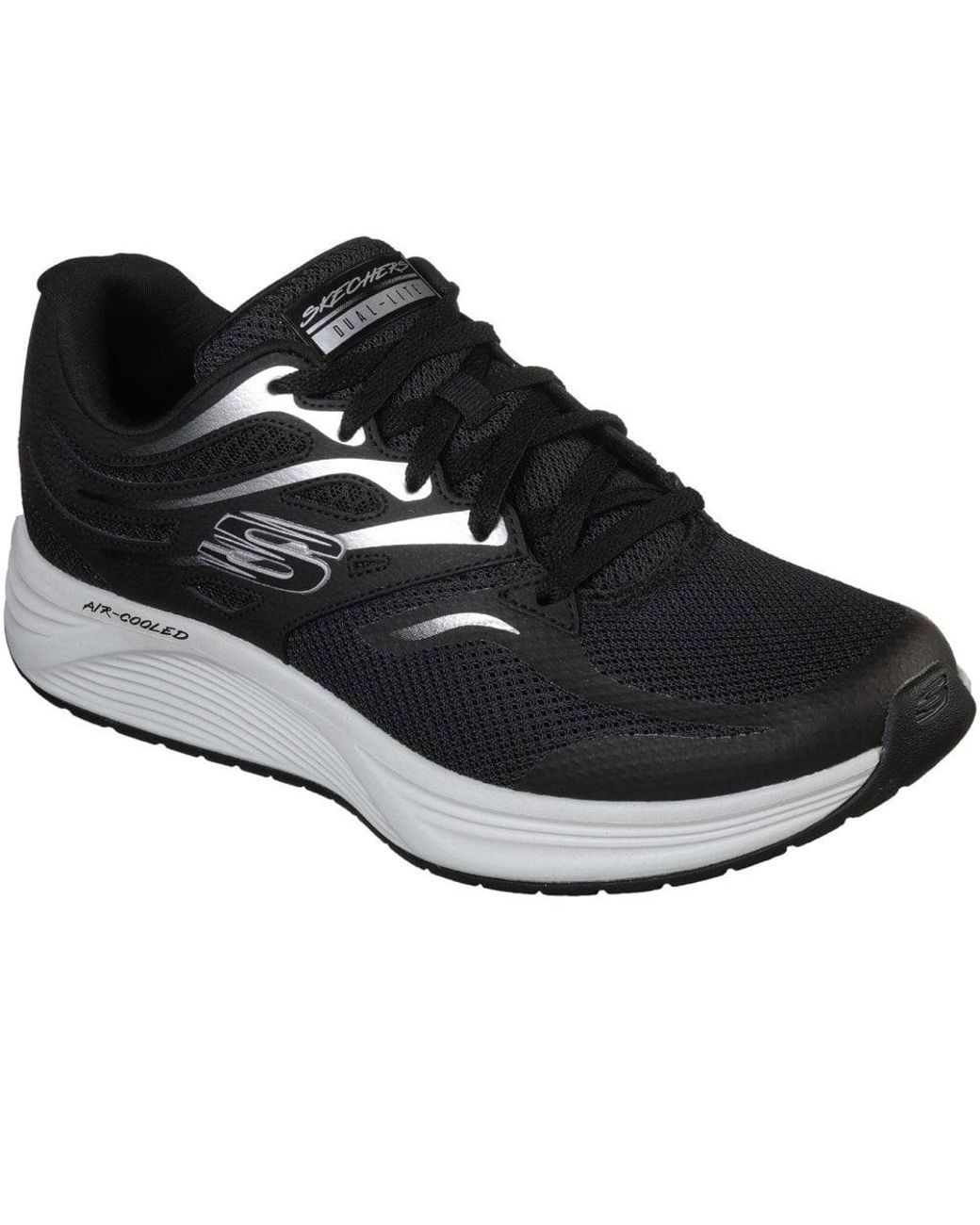 Black Skyline Brightshore Mens Lace Up Athletic Sneakers