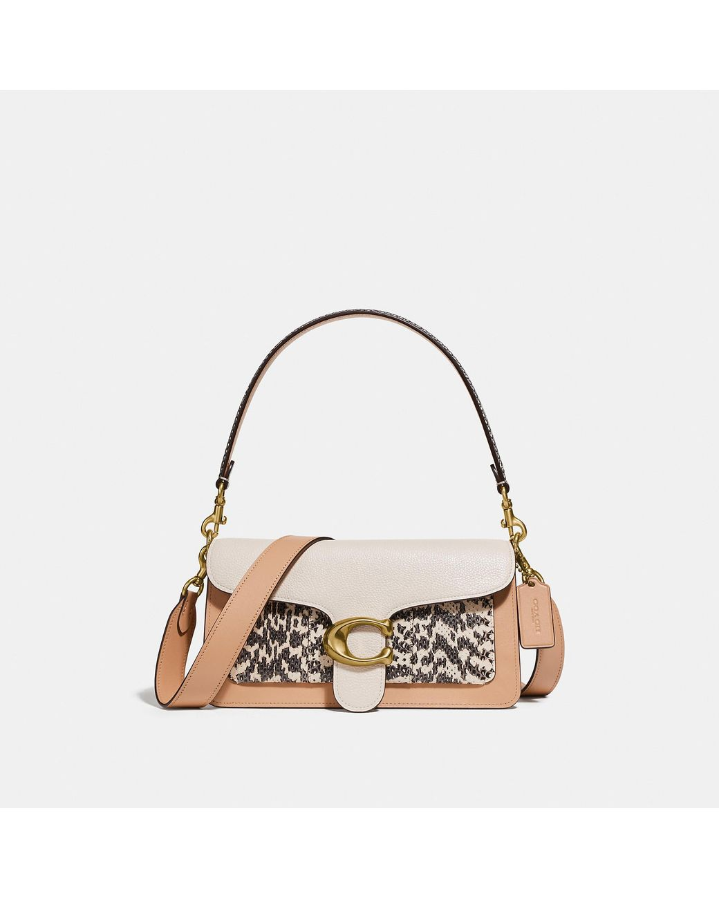 91797d7eeae COACH Tabby Shoulder Bag 26 In Colorblock With Snakeskin Detail - Lyst