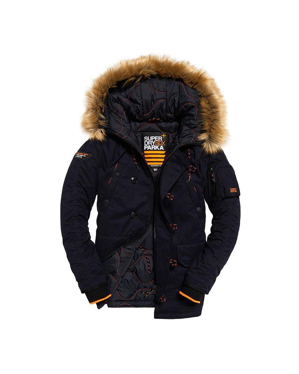 4d807eb8b61645 Superdry Sdx Parka Jacket in Blue for Men - Save 53% - Lyst