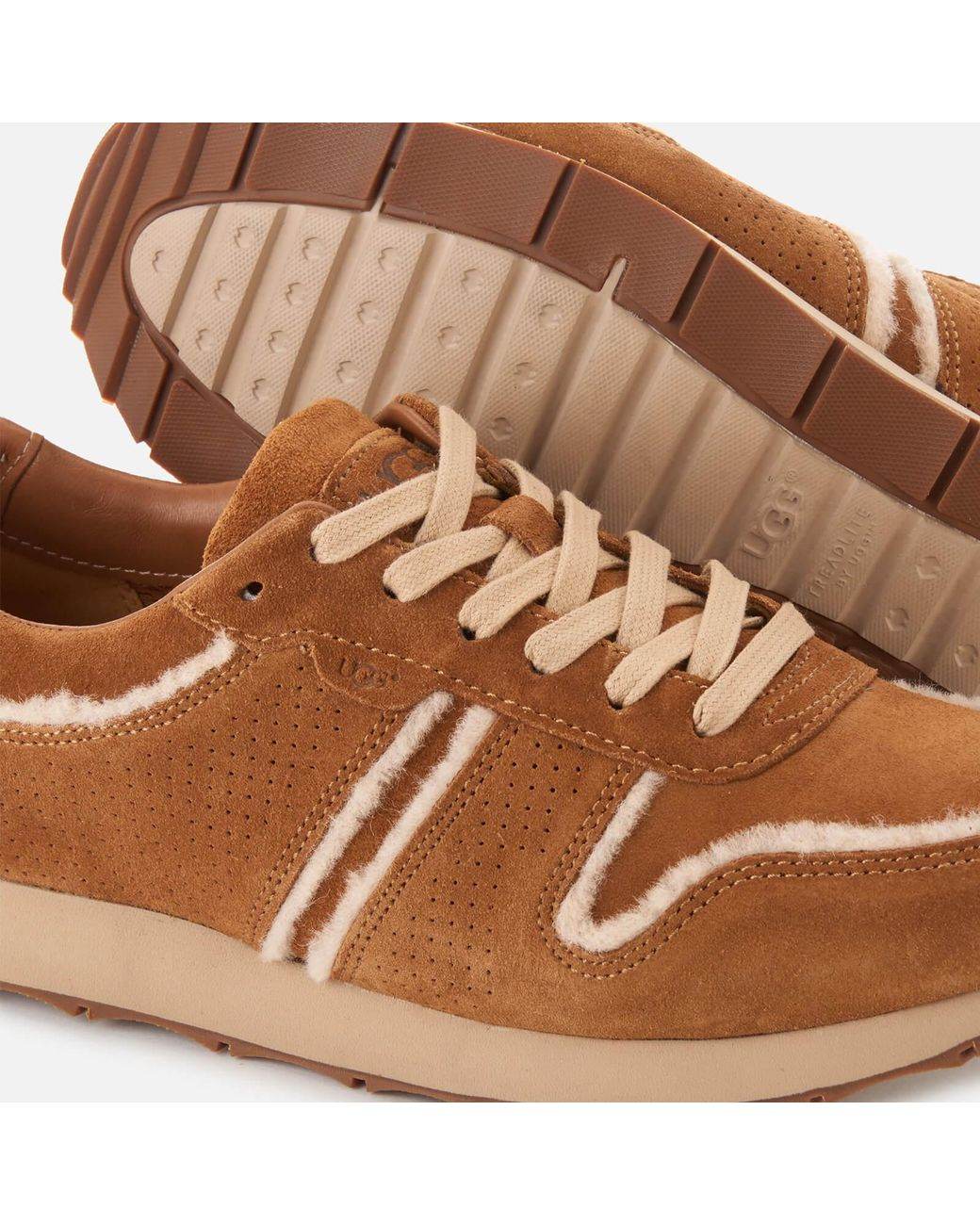 976135efc23 Men's Brown Trigo Spill Seam Suede Runner Style Sneakers