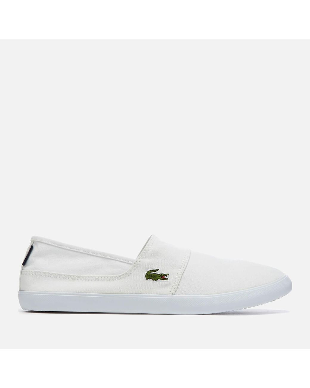 1c752b67b9ac Lyst - Lacoste Marice Bl 2 Canvas Slip-on Pumps in White for Men