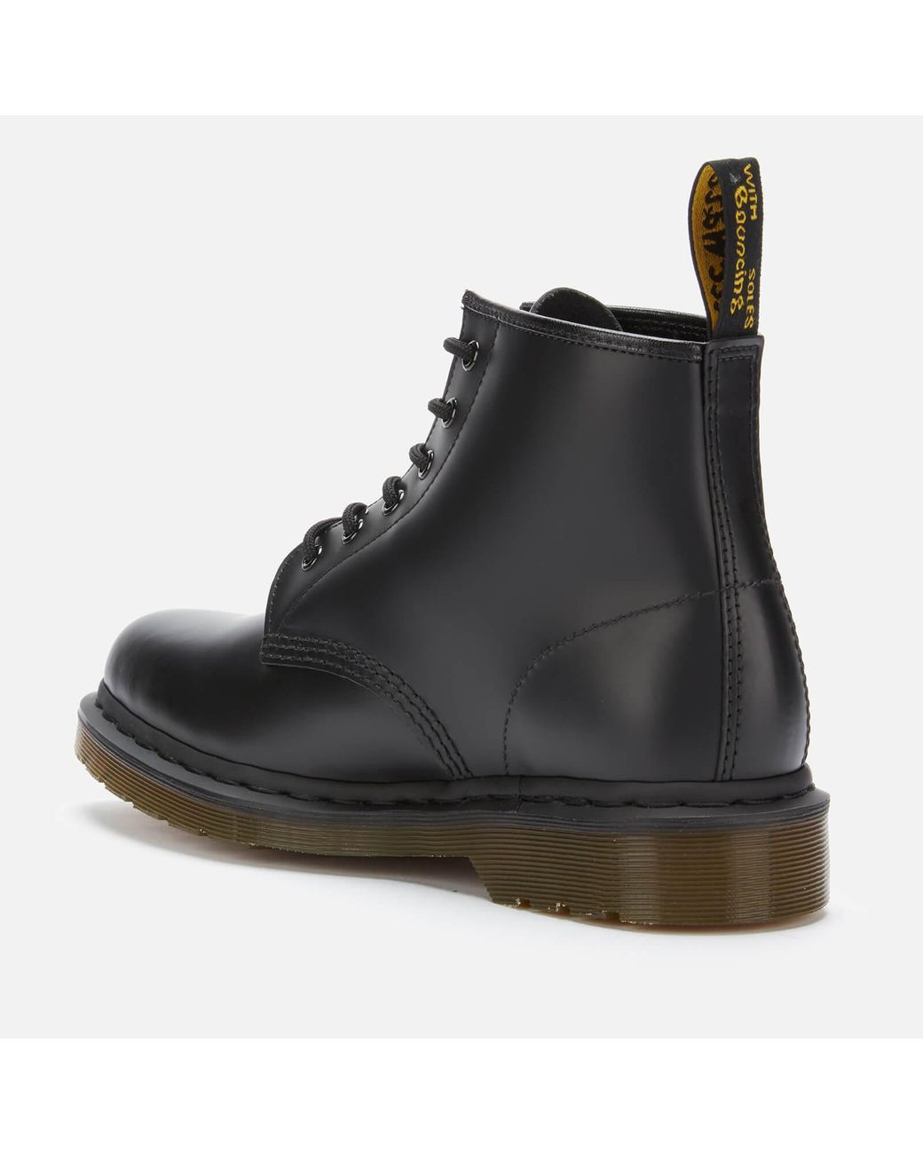 dollaro Americano Nonno Insegnamento  Dr. Martens 101 Smooth Leather 6-eye Boots in Black - Save 6% - Lyst