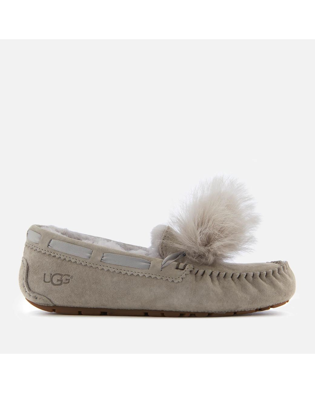 cf1e229691c Women's Gray Dakota Moccasin Suede Slippers
