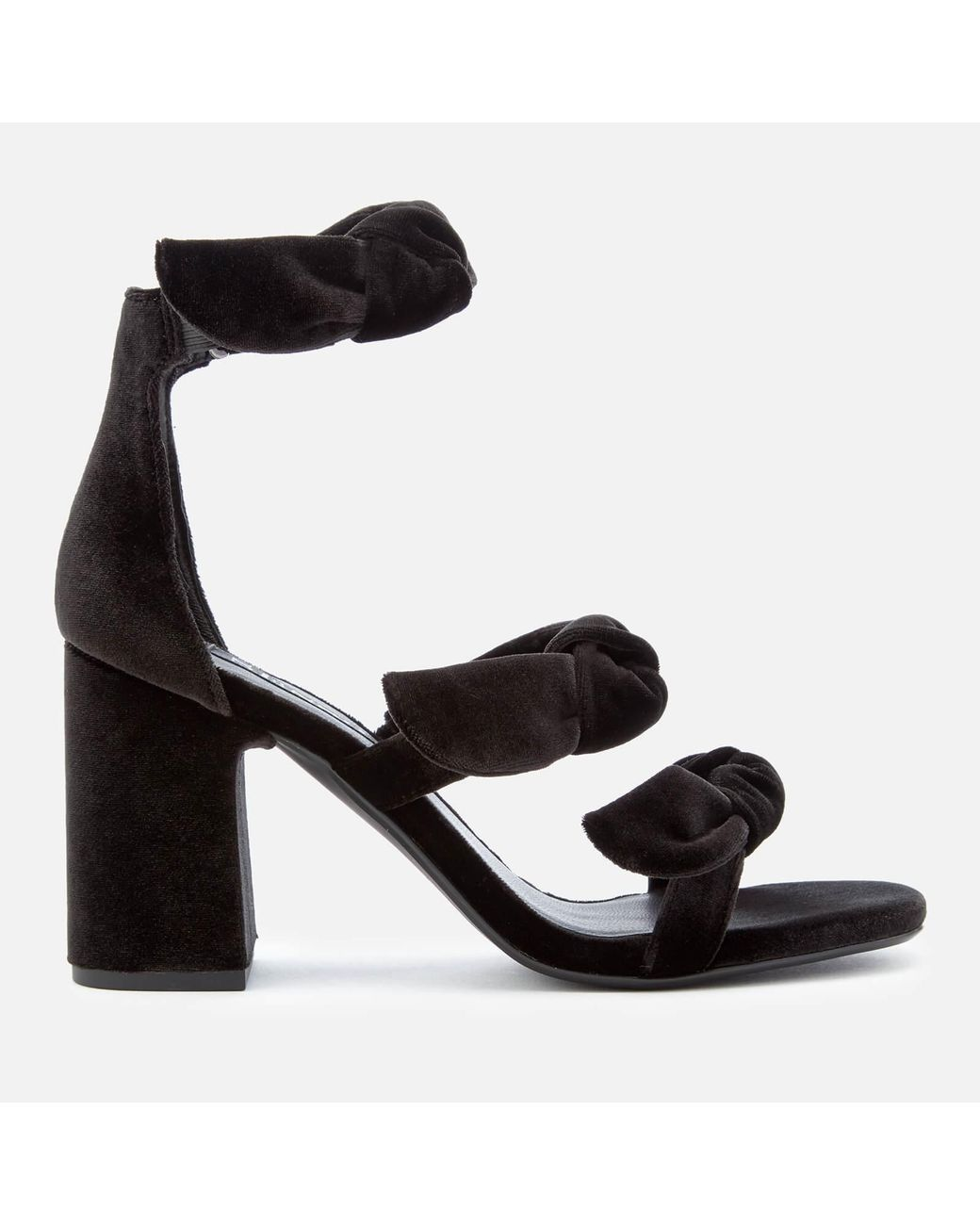 9b84026519 Senso Melvy Iv Velvet Triple Strap Heeled Sandals in Black - Lyst